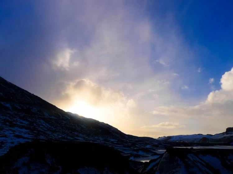 Glacier Sunset