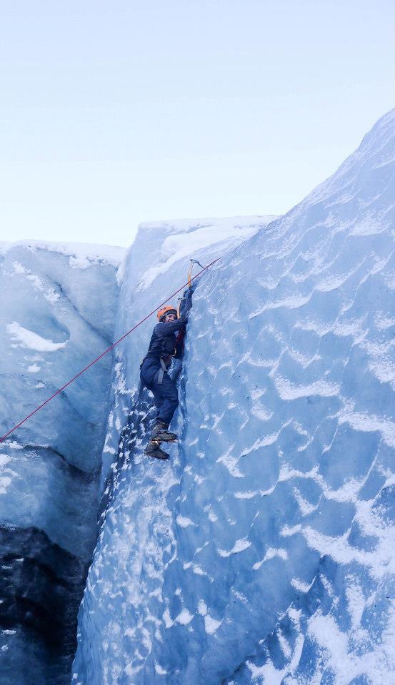 Jessica Ice-Climb