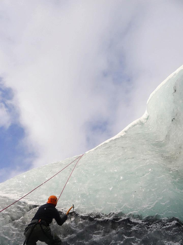 Alex Ice-Climbs