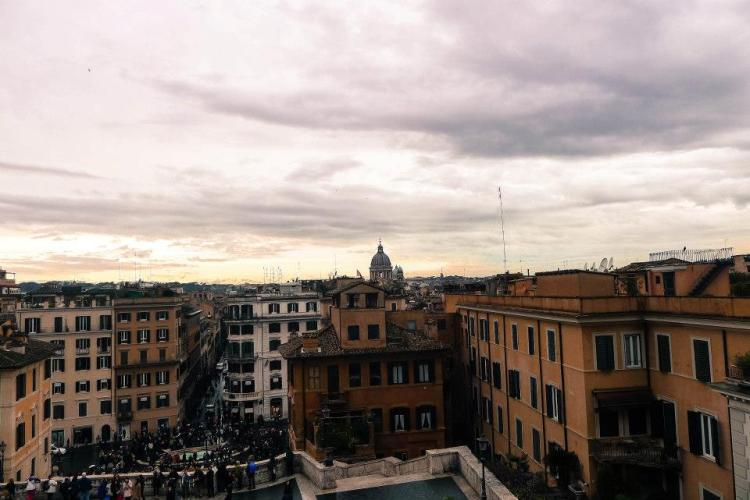 Rome, atop the spanish steps.
