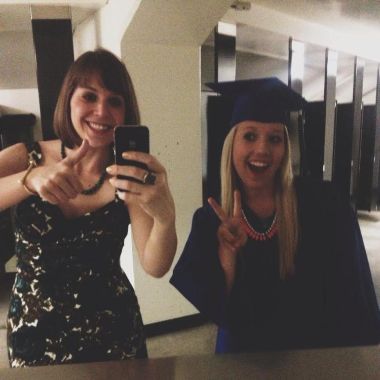 Stealing a Moment Together Before Graduation-In the Girls Bathroom, Of Course.