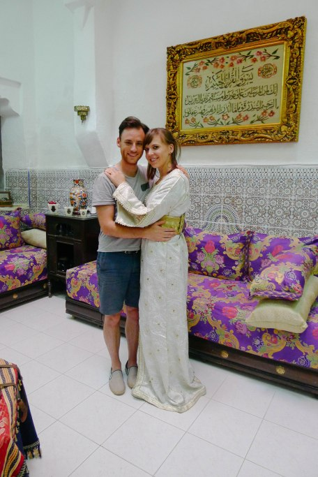 A Moroccan Wedding Dress and a Very Underdressed Groom