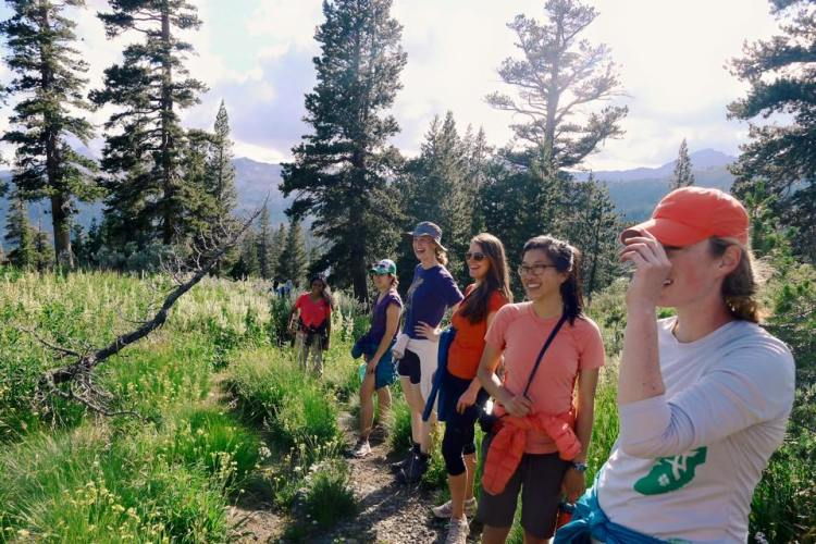 Hiking up Mt. Tellac